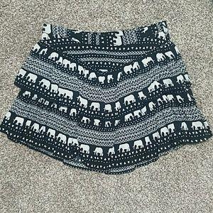 Black Tribal/Elephant print dress